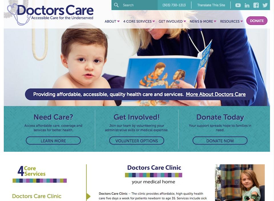 Doctorscare Site Screenshot